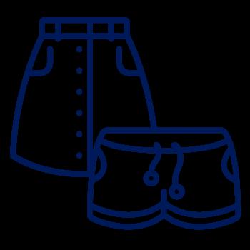 Shorts y faldas de mujer